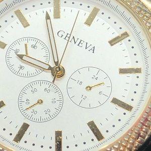 Geneva men's steel watch
